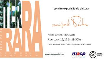 convite exposição de pintura Terra Rara