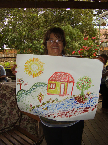 Curso de Pintura - Grupo Feliz Idade
