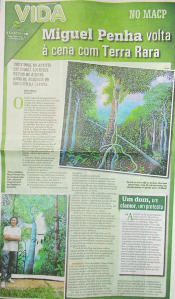 matéria sobre a exposição na A Gazeta