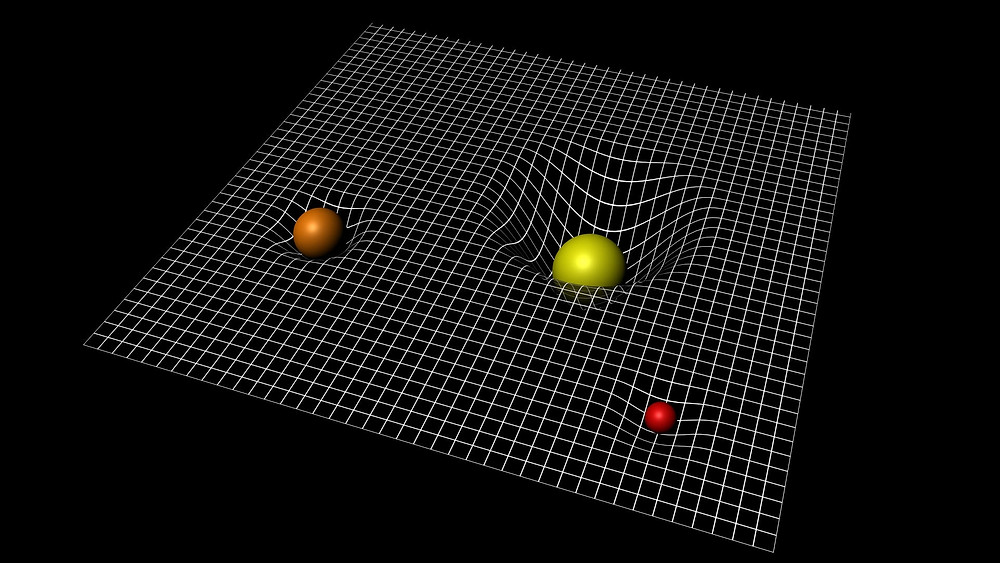 An artistic representation of general relativity being background independent