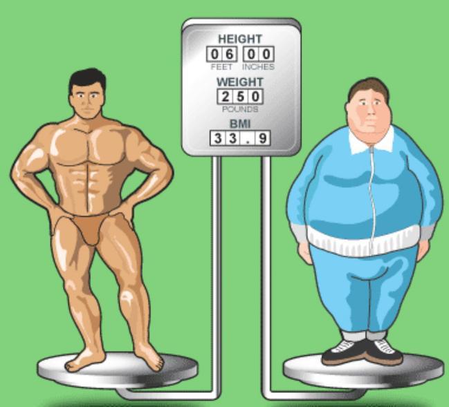 Massa magra vs massa grassa