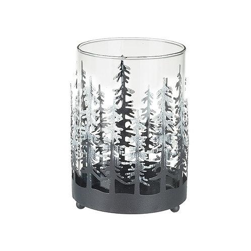 Tea Light Holder With Fir Trees