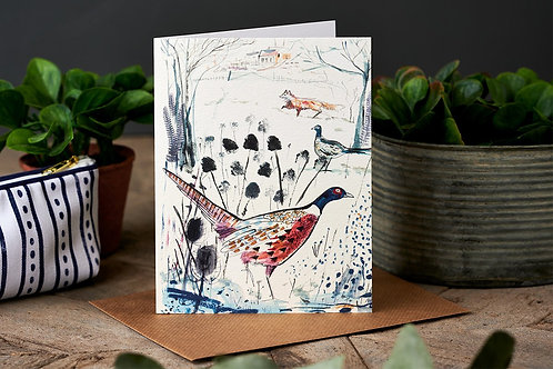 The Pheasant & The Fox Greetings Card