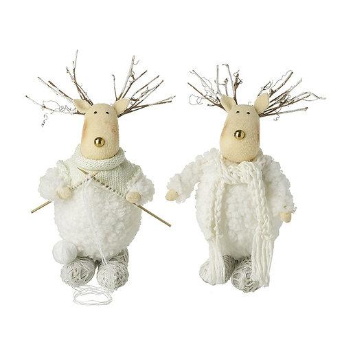 Standing Dumpy White Wool Deer Mix