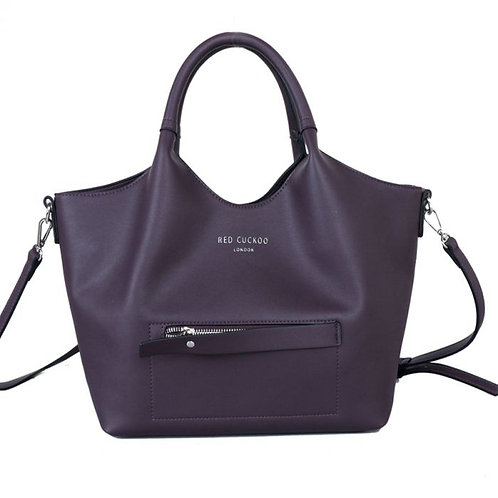 Purple Tote with Contrast Lining