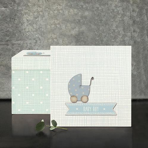 Square Wood Box-Baby Boy