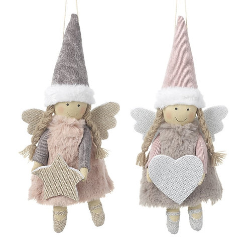 Fabric Hanging Pink Angel