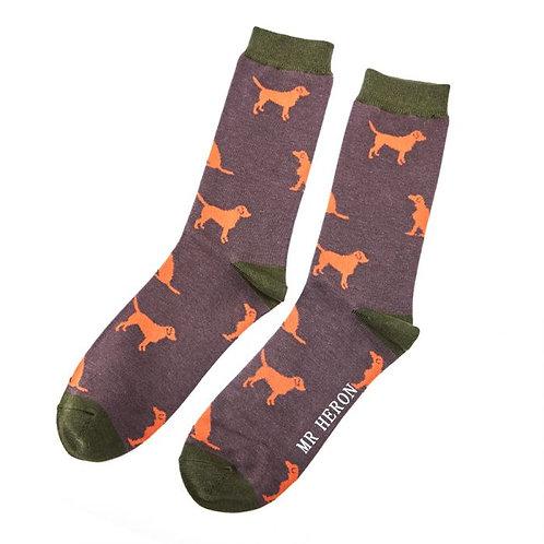 Mr Heron Labrador Socks
