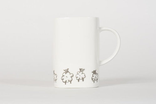 Welsh Connection - Square Mug - Sheep