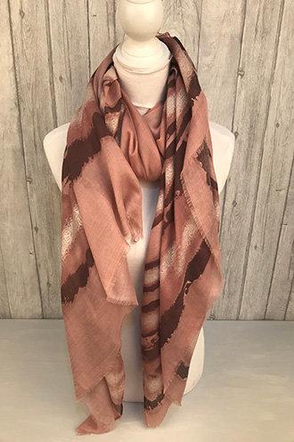 Dusky pink scarf