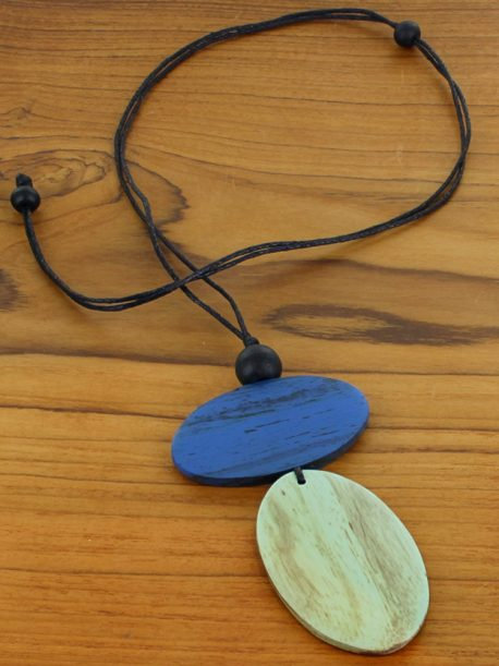 Simple Double Oval Pendant Necklace (Adjustable)