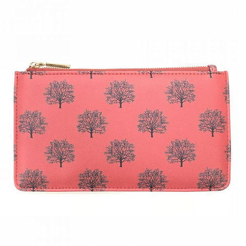 Trees Red Printed Purse