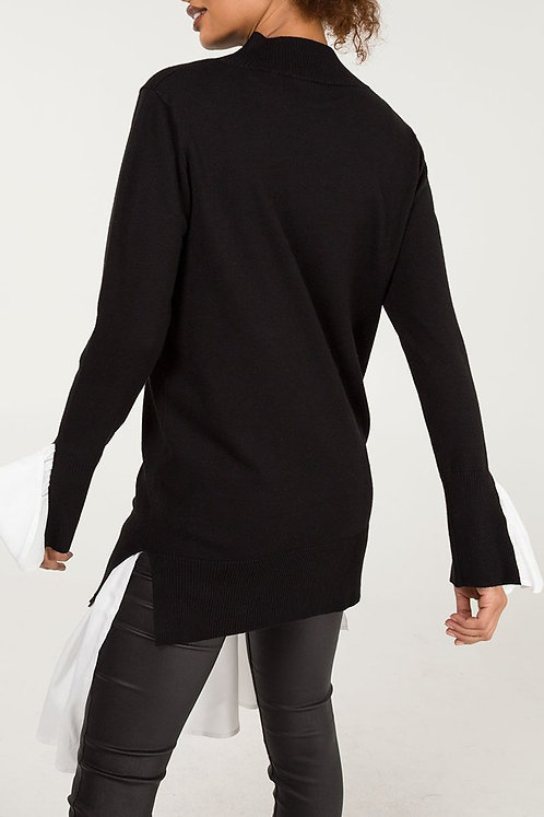 Two In One Shirt Insert Jumper