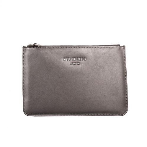 Metallic Grey Clutch Bag