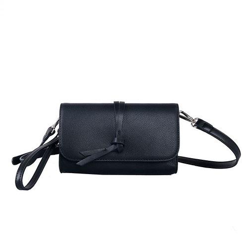 Black Knotted Tassel Cross Body Bag