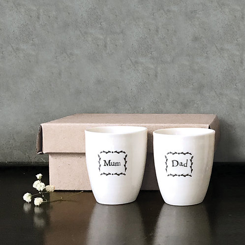 Egg Cup Set-Mum & Dad