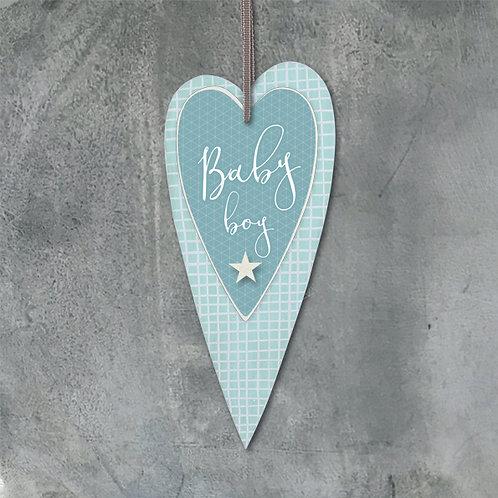 Long blue heart-Baby boy