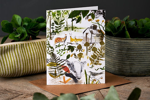 In The Woods Greetings Card