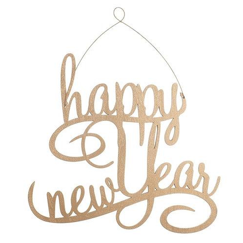 Happy New Year Copper Plaque
