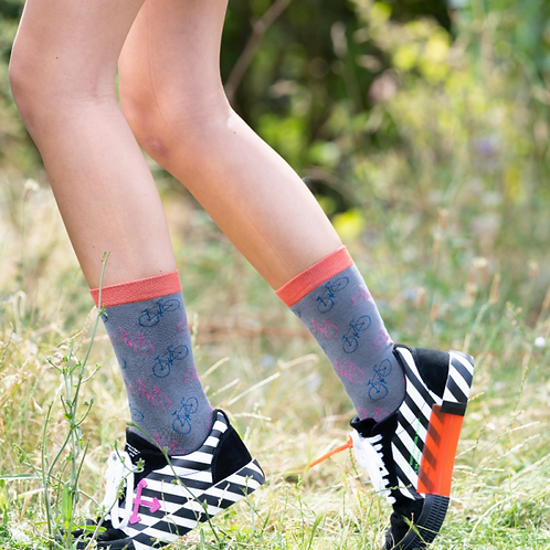 Little Bikes Socks Grey
