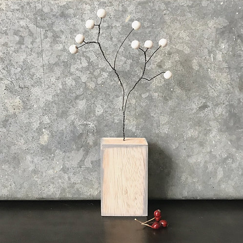 Berry branch in block-White