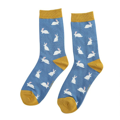 Rabbits Socks Blue
