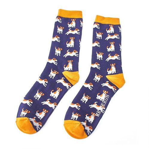 Mr Heron Jack Russells Socks