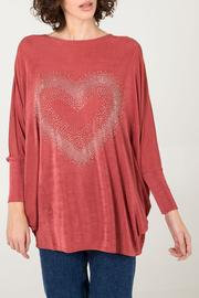 Diamante Heart Oversized Jumper