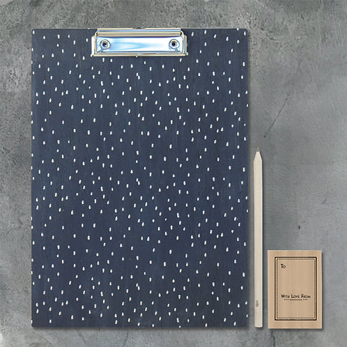 Clipboard-Navy geometric
