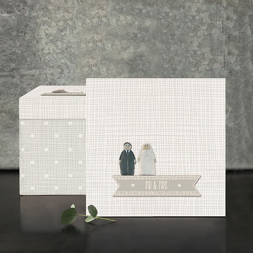 Square Wood Box-Mr & Mrs
