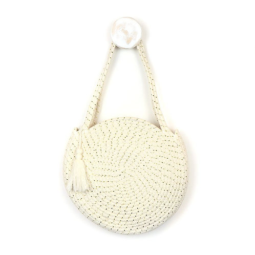 Round cotton rope bag