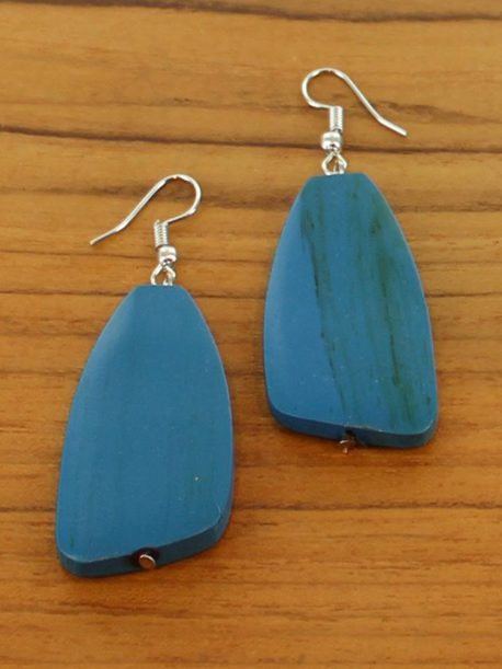 Simple Wooden Pebble Earring