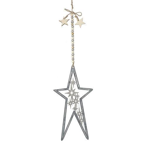 Silver Star With Stars Inside De