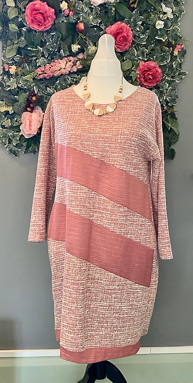 Made in Italy Dusky Pink Boucle Dress