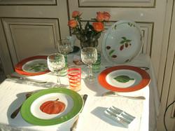 Légumes vert et orange