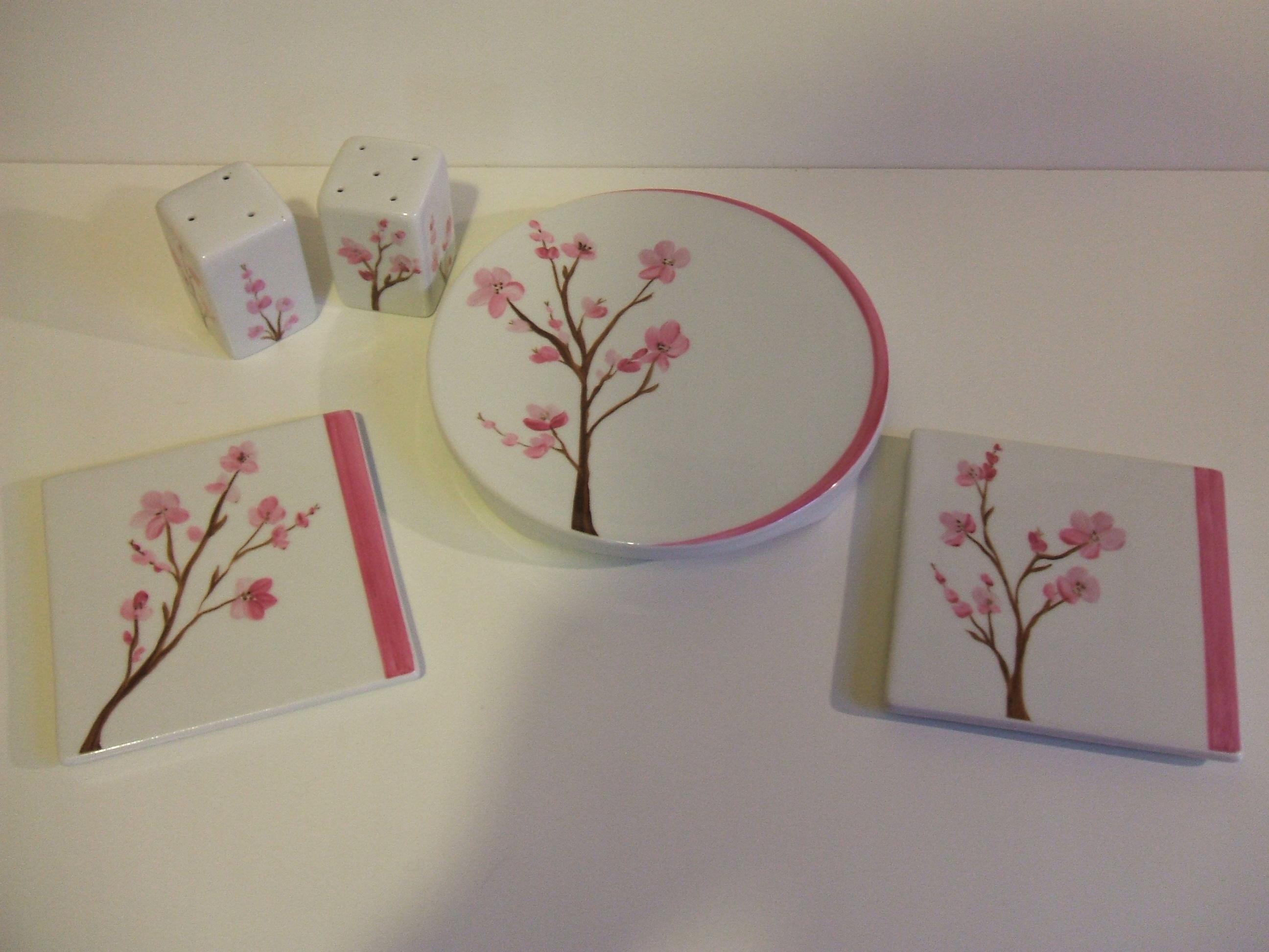 Ensemble fleurs de cerisiers