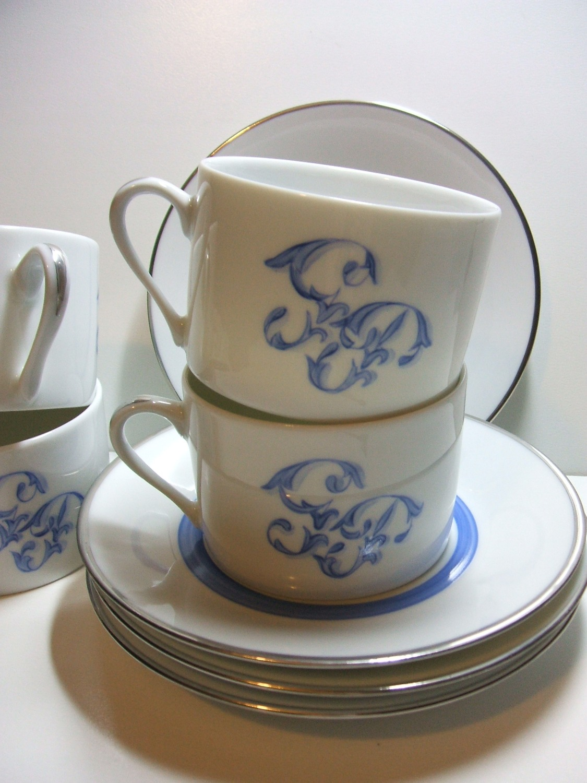 Tasses à thé chiffrées