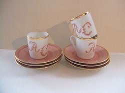 Tasses à café filet or chiffrées