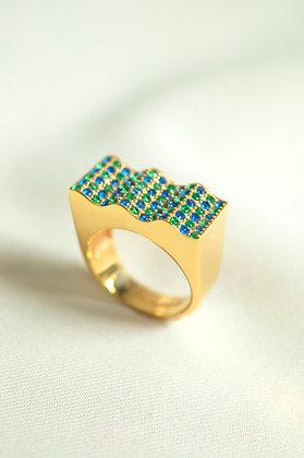 Onda Ring Blue-Green