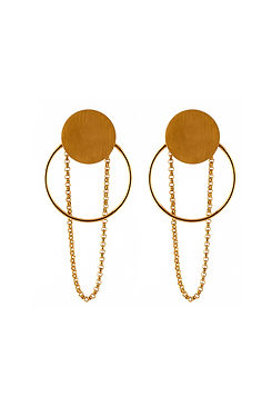 Chained Hoop Infinity earrings-gold.jpg
