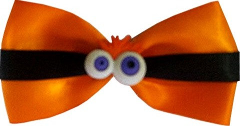 Halloween Twist Tie Bows-        50 pack
