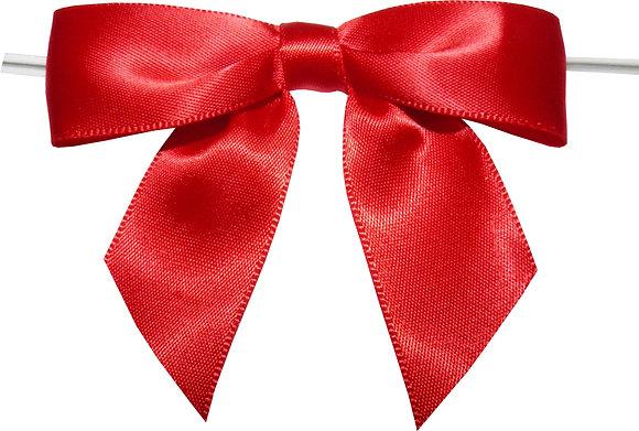 "3"" Twist Tie Bows-        100 pack"