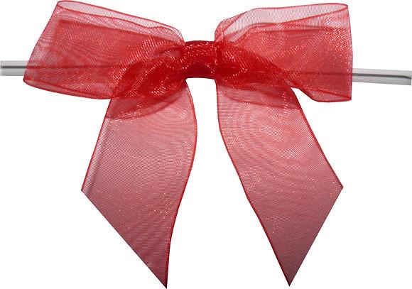 """3"""" Sheer Twist Tie Bows- 100 pack"""