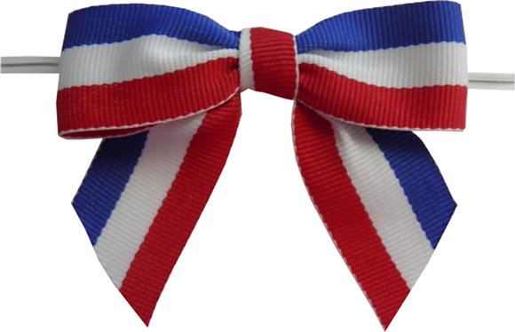 Patriotic Twist Tie Bows