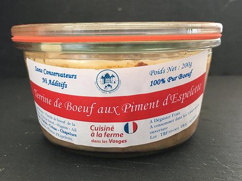 Terrine de Boeuf au Piment d'Espelette
