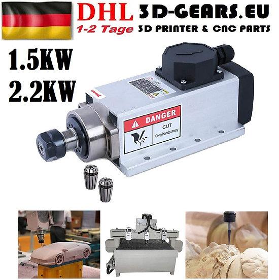 EU-Stock! CNC 1.5KW 2.2KW 220V ER20 Luftgekühlt Frässpindel Air cooling Spindle