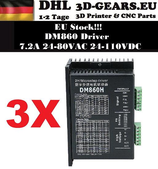3x Schrittmotortreiber DM860H 7.2A 24-110VDC Nema34 Driver CNC