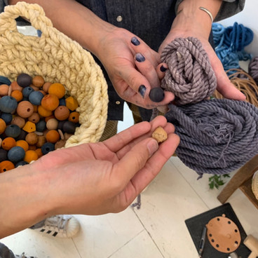 Crochet + Coin Case Making Workshop at Non Project Hair Salon
