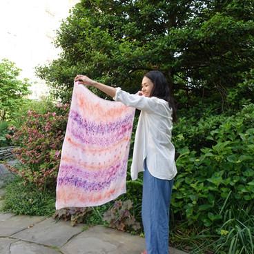 Custom Bundle Dyed Baby Blanket