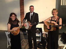 Tara Linhardt, Lynn Healey, Keith Arneson, formal, dress, mandolin, banjo